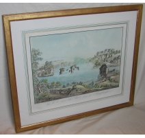 "Print ""View of the Rhine Falls"", by LORY."