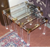 "Lot de 3 tables gigognes ""LUX"" en"