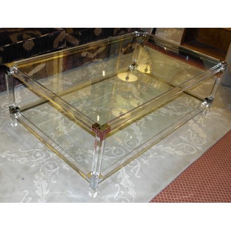 Table Basse Lux En Plexiglas Et Verre Sur Moinat Sa Antiquités Décoration