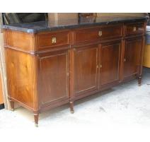 Buffet Louis XVI mahogany. With 4