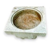 Bassin carré pour fromage, en pierre du Jura