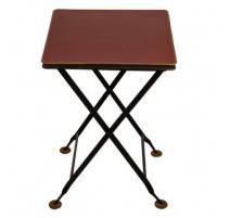Складной стол из листового металла, красный и сетка золото
