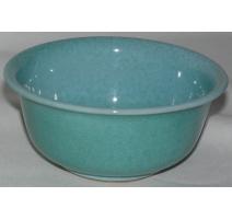 Coupe, en céramique turquoise. Signée BOAS