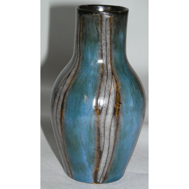 vase en c ramique bleu gris brun sur moinat sa antiquit s d coration. Black Bedroom Furniture Sets. Home Design Ideas