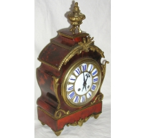 Napoleon III mantel clock tortoiseshell.