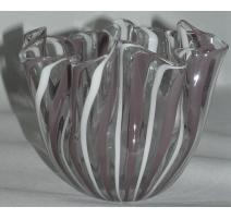 Vase Murano, en verre, signé dessous