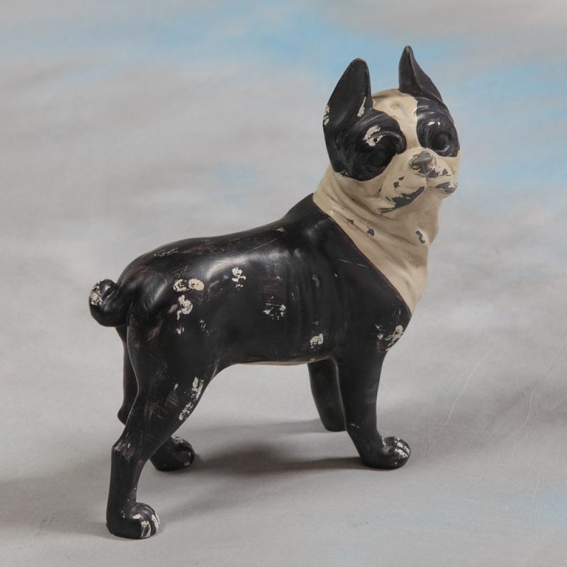 Chien bulldog fran ais en r sine sur moinat sa for Decoration chien resine