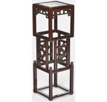 Selette carrée de style Qing, en bois