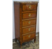 Secretary Louis XV, Transition, wood