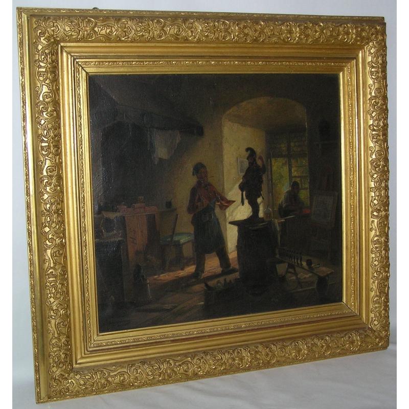 peintures tableau sc ne d 39 int rieur l 39 artiste moinat sa antiquit s d coration. Black Bedroom Furniture Sets. Home Design Ideas