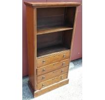 Shelf English mahogany 4 drawer,