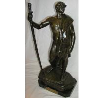 """Bronze """"Le chemin parcouru"""", signé COLIN."""