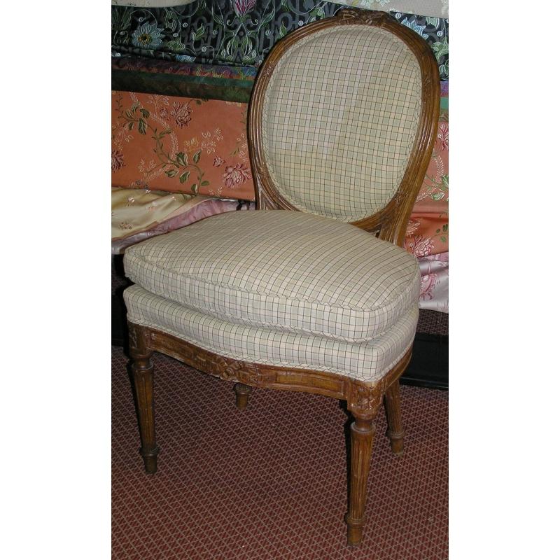 Chaise louis xvi m daillon en h tre sur moinat sa antiquit s d coration - Chaise medaillon louis xvi ...