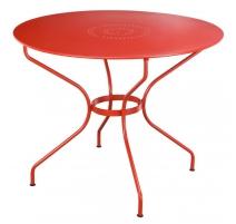 Круглый стол из кованого железа красный