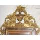 Miroir Louis XVI avec fronton.