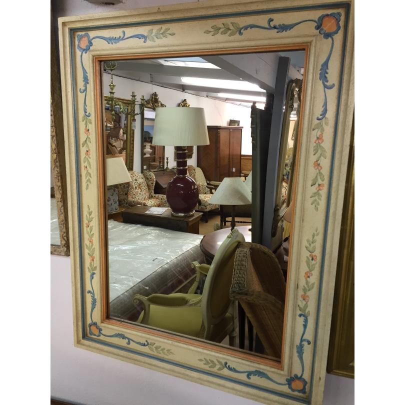 spiegel holz bemalt mit dekor moinat sa antiquit s d coration. Black Bedroom Furniture Sets. Home Design Ideas