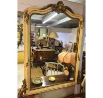 Miroir Napoléon III, en bois laqué