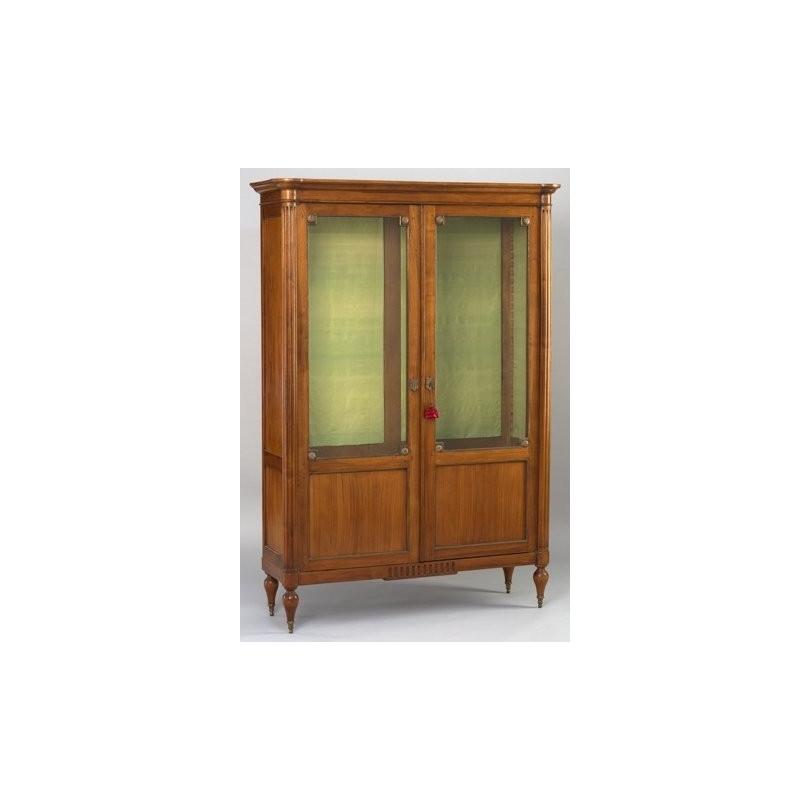 Bibliothèque à deux portes vitrées