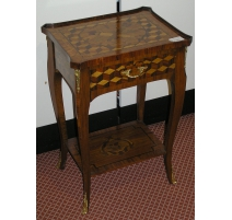 Bedside rosewood inlaid. With