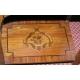 Chevet, en bois de rose marqueté. Avec