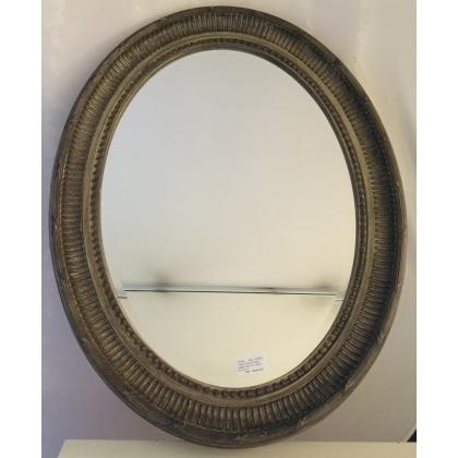 Miroir ovale style Louis XVI en résine