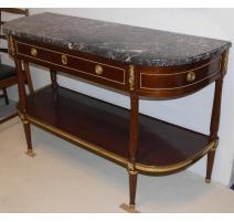 Console Louis XVI à trois tiroirs, en