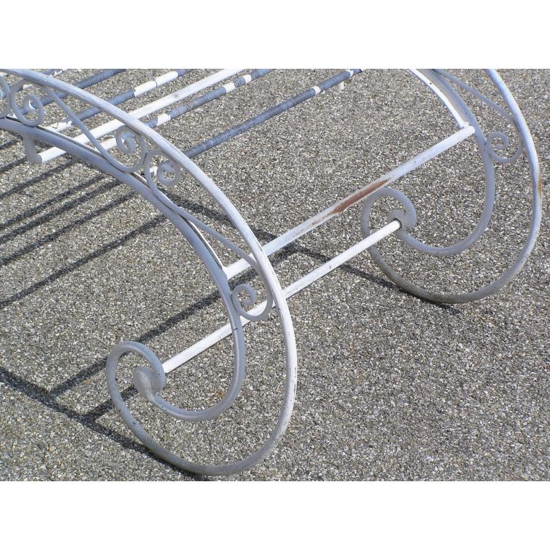 Chaise longue d 39 ext rieur en fer forg sur moinat sa for Chaise longue exterieur