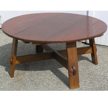 Table ronde basse Arts and Crafts
