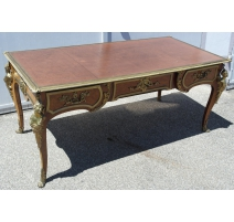 Bureau style Louis XV-Régence, en bois de rose