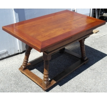 Table Louis XIII avec allonges, en