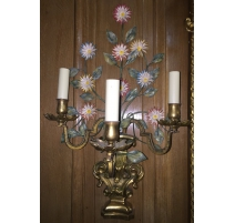Pair of sconces Regency style, iron