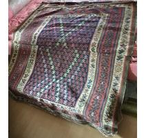 地毯Kilim的红色和蓝色