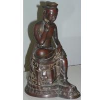 """Sculpture """"Bouddha"""", en bronze. Japon."""