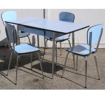 Ensemble de cuisine table et 4 chaises, en formica