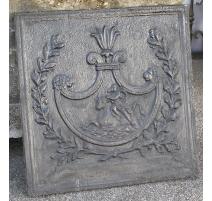 La placa, chimenea de leña, de hierro fundido. Francia.