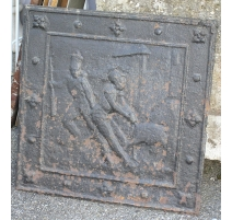 Plate, chimney, cast iron. France.
