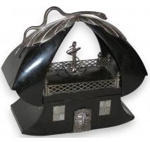 Boîte de couture forme bateau.