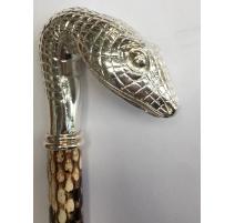 Canne imprimée serpent avec crosse