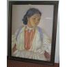 """Pastel sur papier """"Portrait d'une jeune"""
