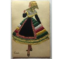 "Postcard embroidered ""Toledo"" TARJETA"