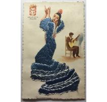 "Carte postale brodée ""Granada"" TARJETA"