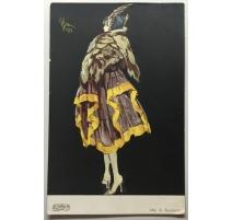 Carte postale Art Deco daté 1917