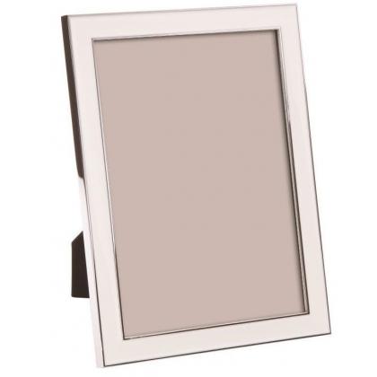 Marco de la foto con un esmaltado blanco, grande