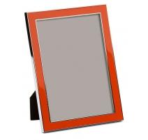 Фоторамка эмалированная оранжевый