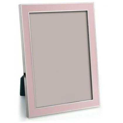 Cadre photo émaillé rose pastel
