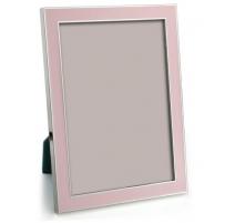 Marco de la foto de esmalte de color rosa pastel