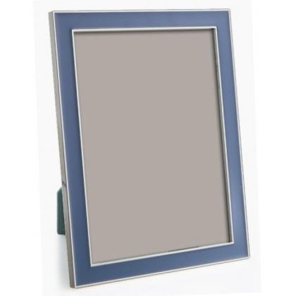 Cadre photo émaillé bleu pastel