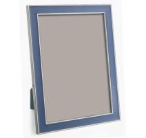 Рамка для фото с эмалью голубой