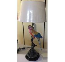 Lampe perroquet multicolore en