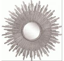 Espejo sol de resina de plata